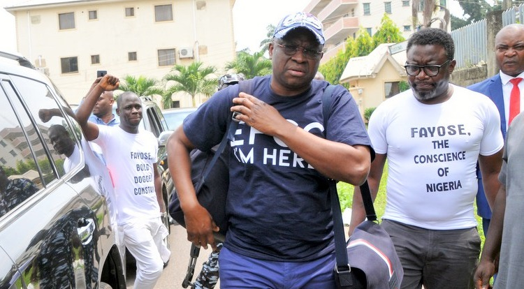 As I welcome Rochas to the EFCC Alumni, I enjoin the commission not to look away from Amosun too - Fayose