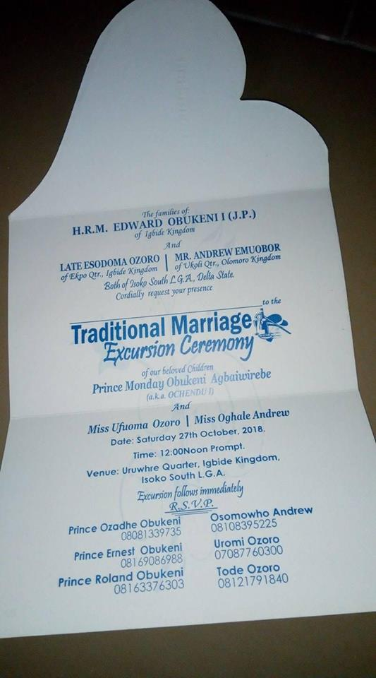 Man set to marry 2 wives on the same day in Delta State