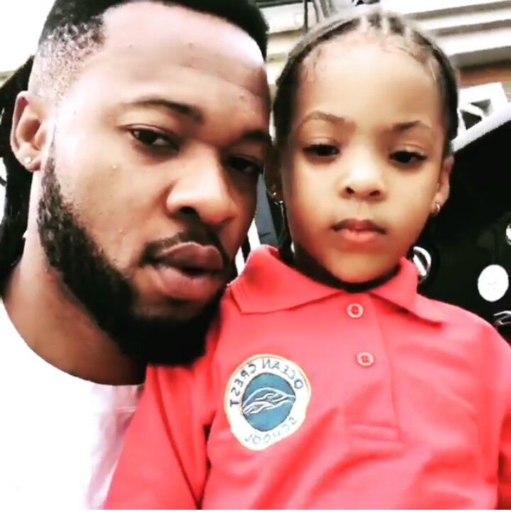 Flavor and his daughter