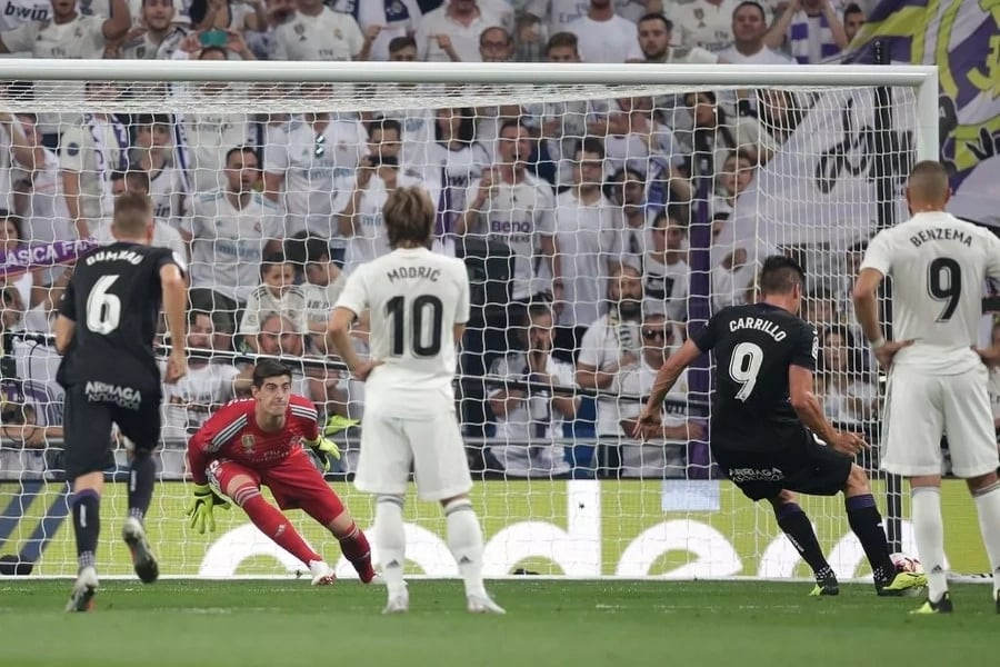 Real Madrid players during a match