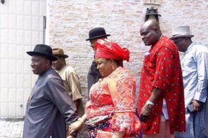 Goodluck Jonathan and wife, Patience