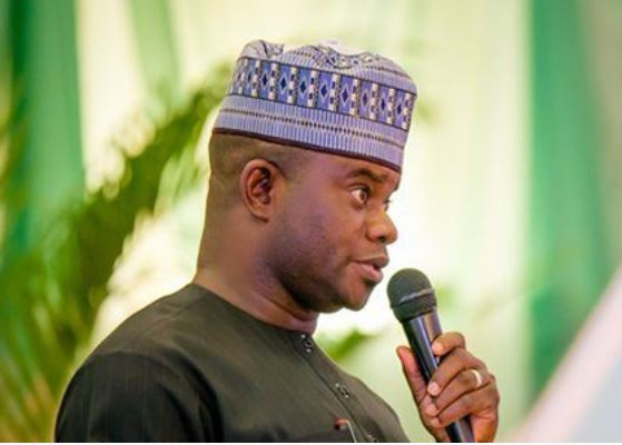 kogi governor yahaya bello donates n7m to churches - Just In: Gov Bello walks Kogi CJ out of public function