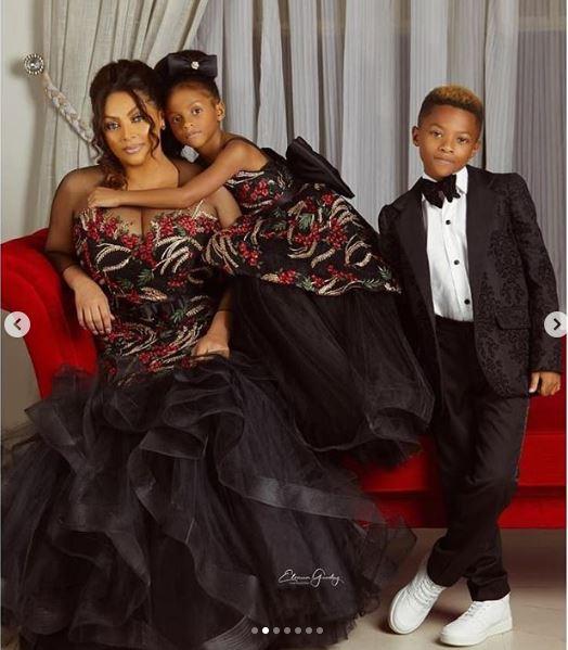 Peter Okoye's wife and children