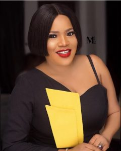 """toyin abraham looks radiant in off shoulder outfit 240x300 - """"Stop Shaming People About Getting Pregnant"""" -Toyin Abraham Advises Fans"""