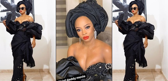 'Those boobs are crying for help' – Nigerians react to Toke Makinwa's revealing outfit to the premiere of 'Chief Daddy'