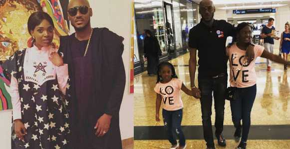 2face Idibia and his family