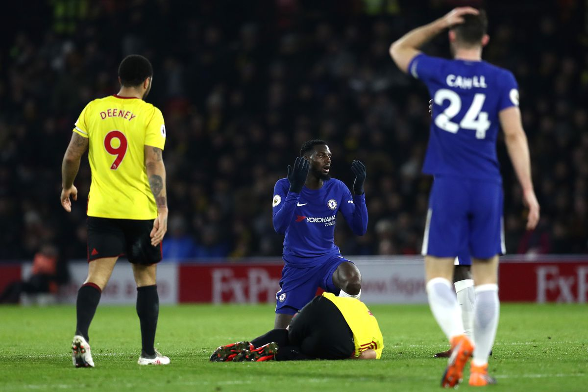 Chelsea players during a match