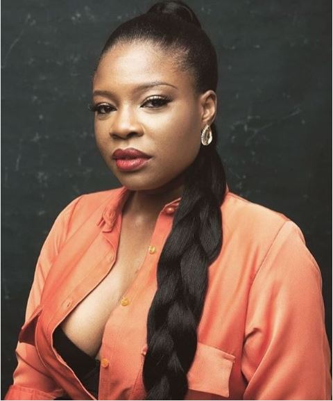 nollywood director kemi adetiba rocks cleavage baring top - Kemi Adetiba Reveals Hilarious Way Omoni Oboli Wished Her A Happy Birthday