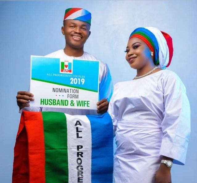 Photo Gallery Nigerian Wedding: Beautiful APC Themed Pre-wedding Photos Of Cute Nigerian