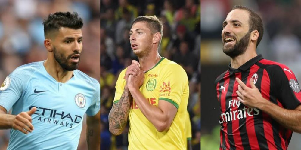 17e3781b06b Emiliano Sala  Gonzalo Higuain   Sergio Aguero break silence on missing  Cardiff City striker