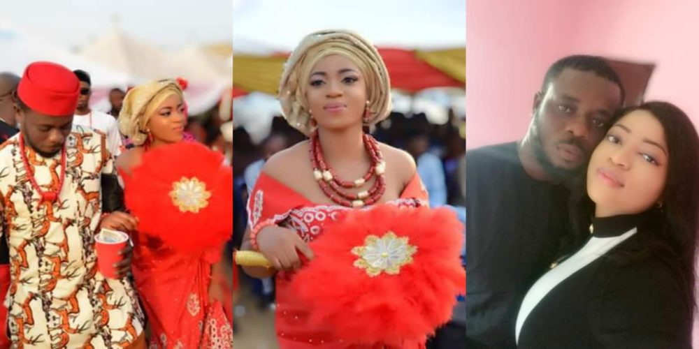 aab3f3ed688 A Nigerian lady posted photos from her traditional wedding and revealed  that she and her husband met in November 2018