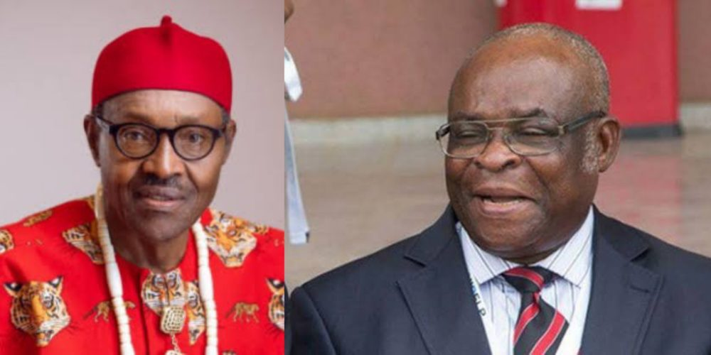 president buhari suspends cjn justice walter onnoghen swears in tanko mohammed from bauchi state as acting cjn - Buhari accepts Onnoghen's voluntary retirement