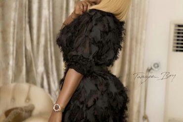 "[Photo]: See How Ini Edo Slayed It At Funke Akindele's ""Aiyetoro"" Movie Premiere"