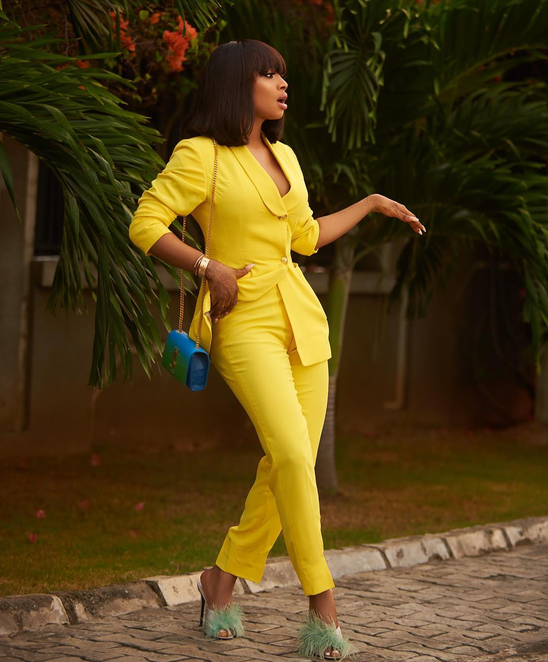 """""""The money green"""" – Toke Makinwa Says As She Shares Sultry Photo"""