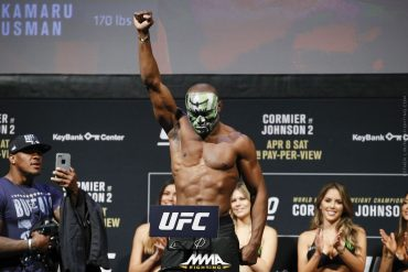 MMA Fighter, Kamaru Usman Knocks Out Opponent To Retain Welterweight Belt