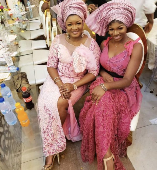 [Photos]: Omotola Jalade-Ekeinde and daughter stun at Mo Abudu's daughter's wedding