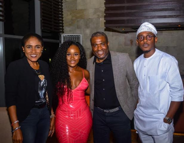 Tobi and cee-c at an evemt