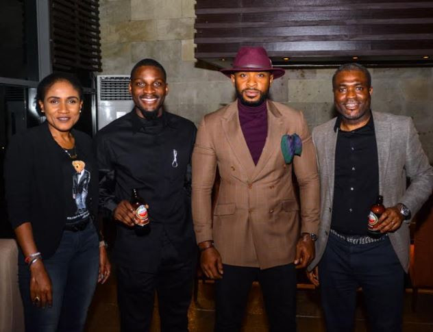 Tobi and cee-c attend an event