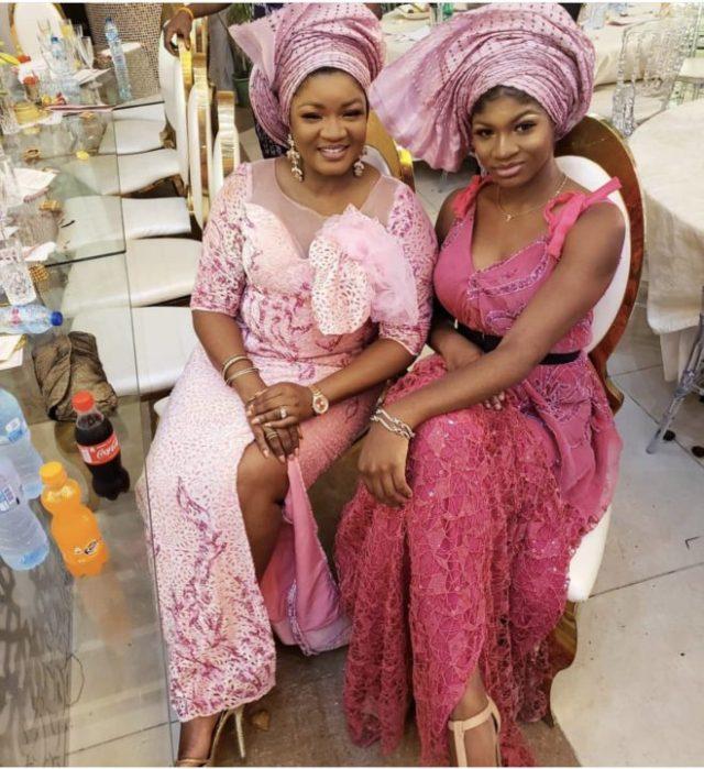 [Photos]: Omotola Jalade-Ekeinde and daughter stun at Mo Abudu's daughter's wedding