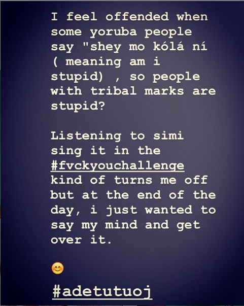 Adetutu slams simi over her fvck you challenge song