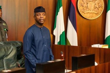 VP Osinbajo looks dapper as he rocks all black agbada(photo)