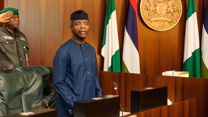 After suffering severe bashing, Presidency clarify Osinbajo's comment
