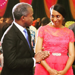 Yemi Osinbajo and wife8 300x300 - Osinbajo Pens Classy Message For Wife, Says He Is Ready For Second Term With Her Support