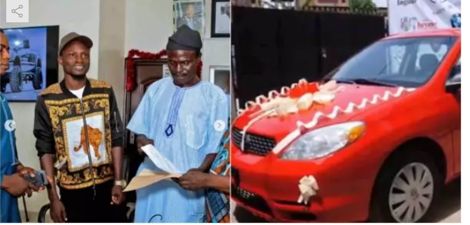 Abja presented with a car