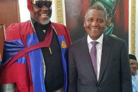 Photos: Aliko Dangote supports Senator Dino Melaye's at his convocation