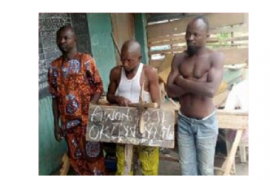 [Photo]: Church nabs bricklayer, accomplice who stole human parts from church cemetery