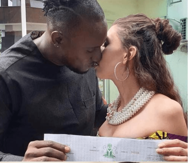 [Photos]: BBNaija's Angel marries his Canadian girlfriend in Port-Harcourt