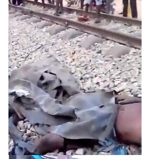 [Graphic Images]: Train crushes 5 persons to death In Lagos state
