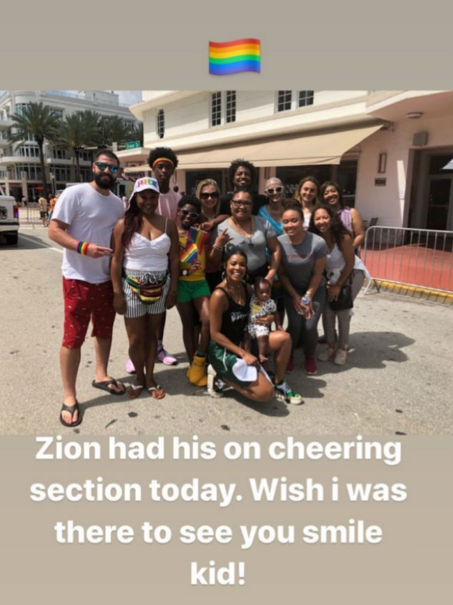 Gabrielle Union and Dwayne Wade show their support for gay son Zion Wade at pride event