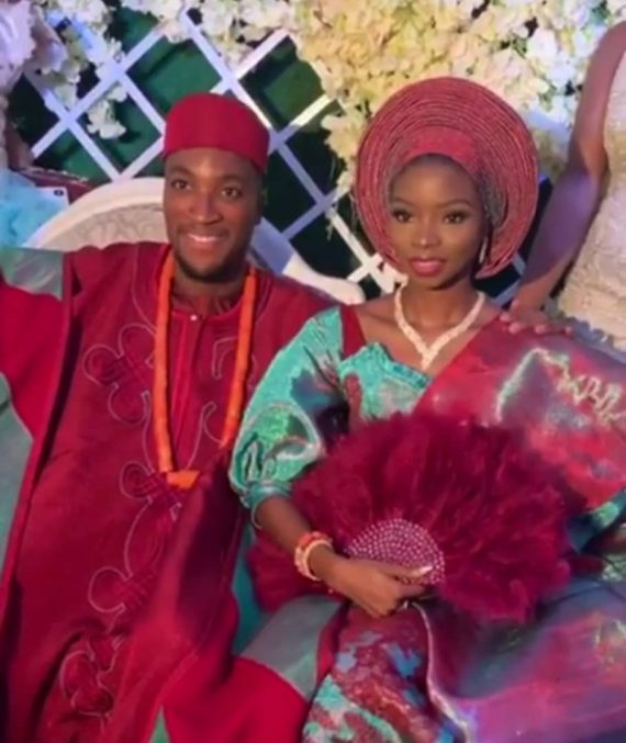 [Photos]: Actor Akah Nnnai's wedding to his sweetheart Claire Idera