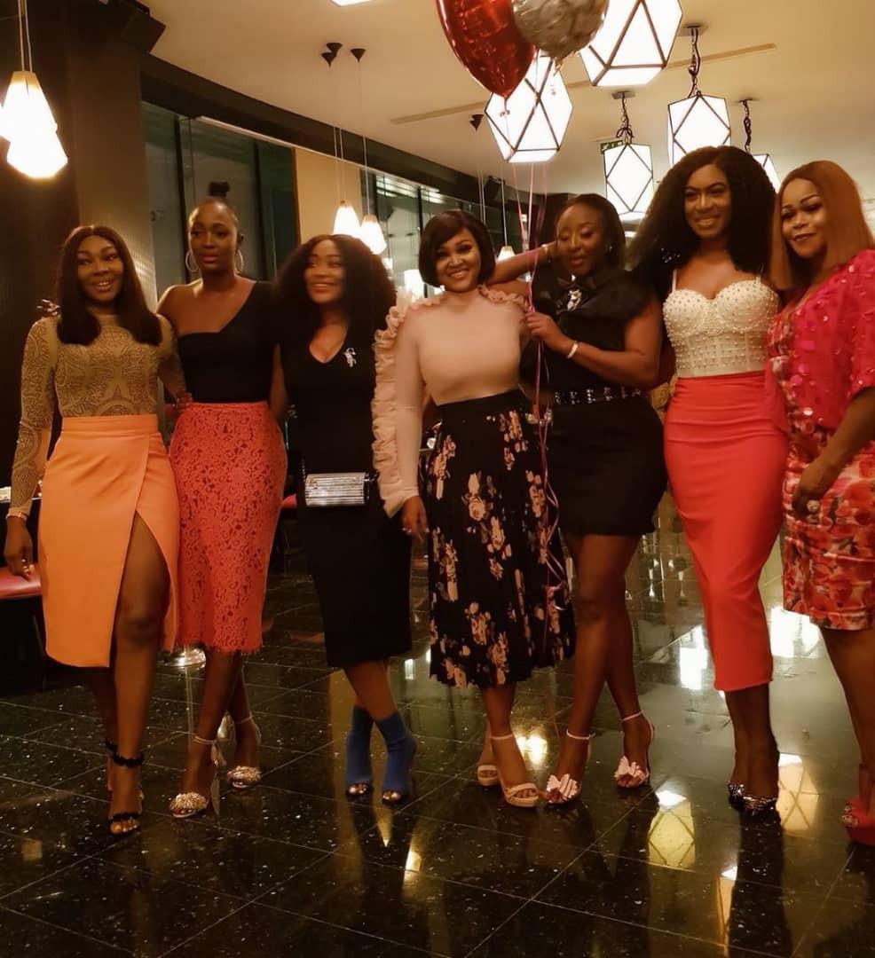 [Photos]: Toke Makinwa, Mercy Aigbe, others attend Ini Edo's birthday party