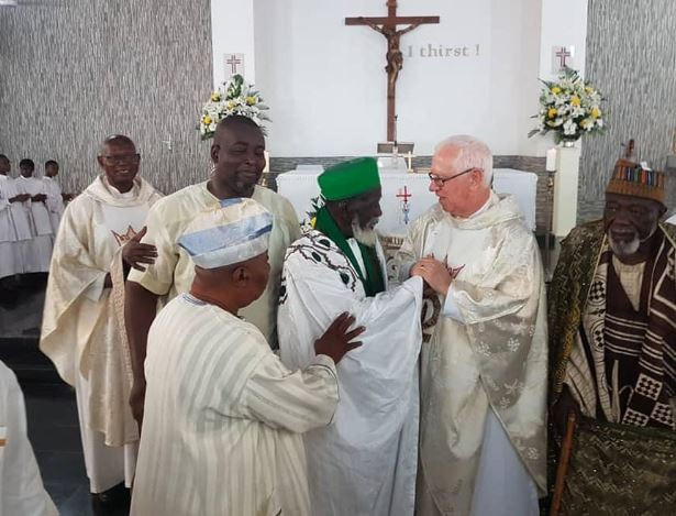 Photos: Ghana's Chief Imam attends church to celebrate his 100th birthday
