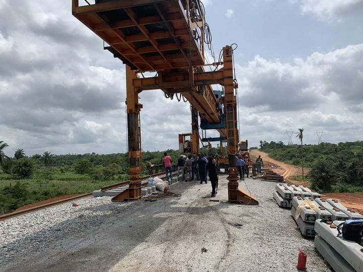 Amaechi inspects Lagos-Ibadan railway construction