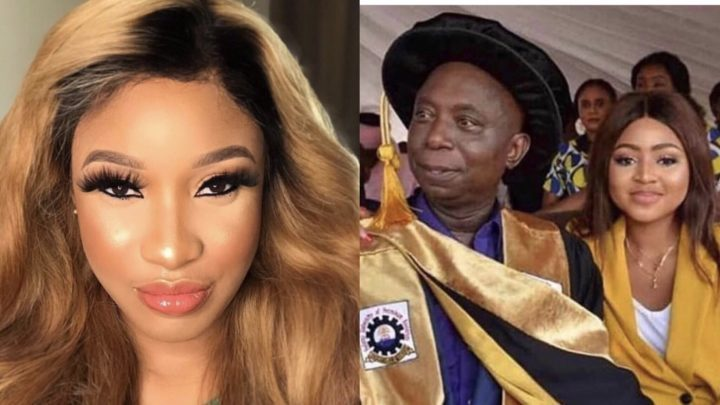 'Leave her alone!' - Tonto Dikeh blasts internet trolls over Regina Daniels