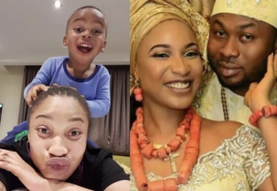 'My son believes his father is dead' - Tonto Dikeh