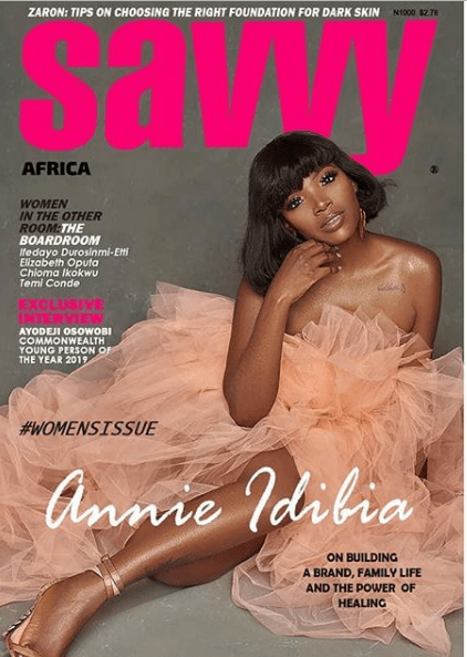 [Photos]: Annie Idibia covers latest issue of Savvy Magazine