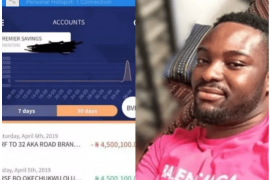 Nigerian music producer returns N4.5m mistakenly sent to his account