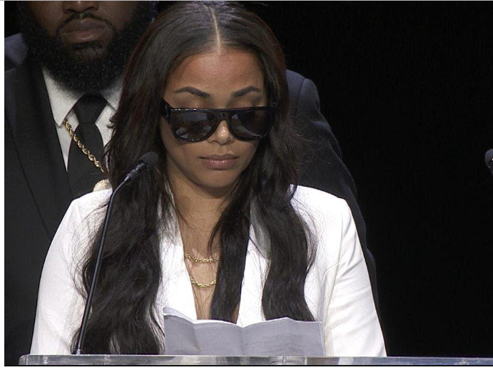 [Video]: Watch Lauren London's emotional tribute to her man Nipsey Hussle at his memorial
