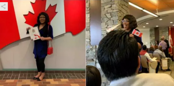 'I Will Burn My Nigerian Passport Now' - Lady Who Just Became A Canadian Citizen Boasts
