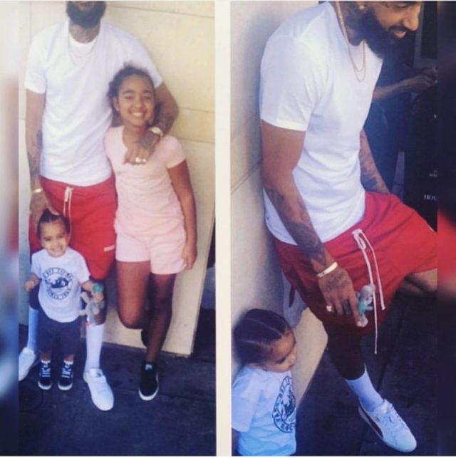 [Photo]: See the last photo Nipsey Hussle took with his kids same day he was murdered