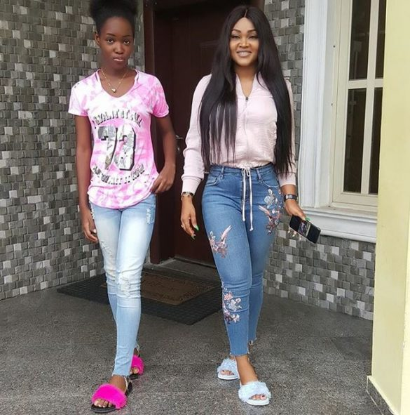 Image result for mercy aigbe and her daughter