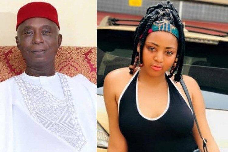 Love In The Air: Ned Nwoko Carries Regina Daniels On His Back Playfully