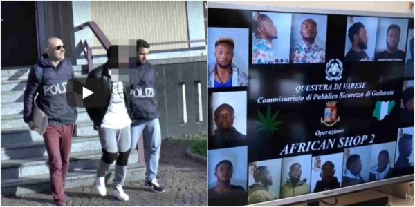 Italian police arrest 10 Nigerian drug dealers