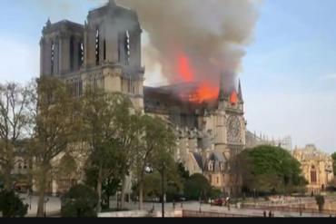 [Photos]: Notre Dame: Major fire ravages Paris cathedral