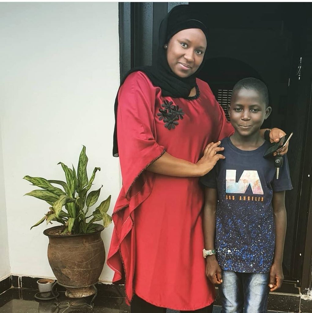 0 IMG 20190527 095307 - See what this Almajiri child looks like now after good Samaritan woman adopted him