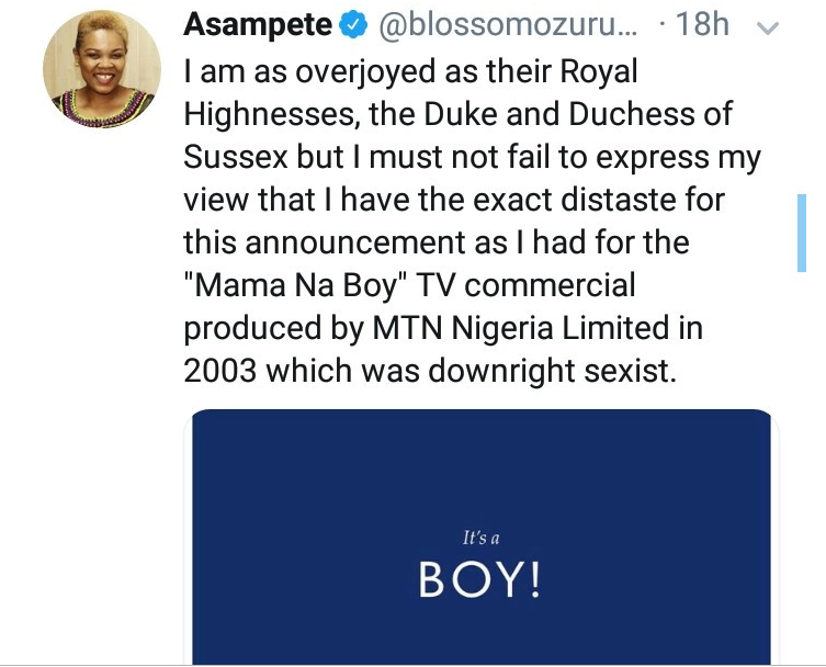 'Royal baby announcement was sexist' - Nigerian writer says